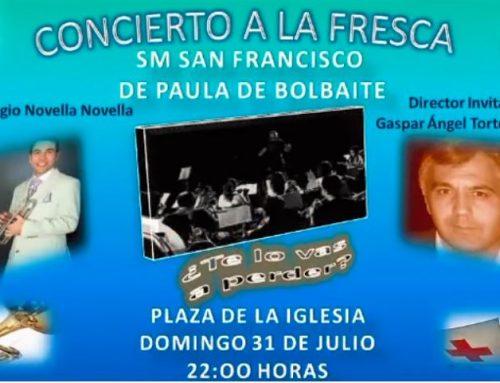 GASPAR ÁNGEL DIRECTOR INVITADO EN BOLBAITE (VALENCIA) /Dirigirá 5 de sus composiciones/