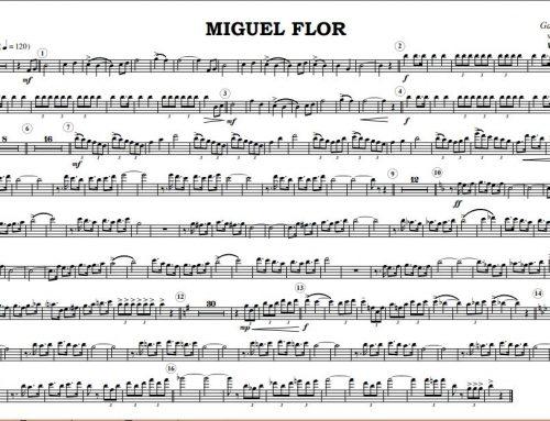"""Estreno de """"MIGUEL FLOR"""" Marcha de Desfile."""