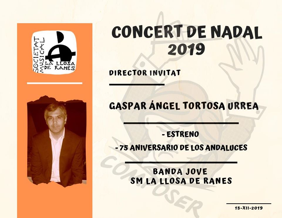 GASPAR ANGEL, DIRECTOR INVITADO EN LA LLOSA DE RANES (VALENCIA)