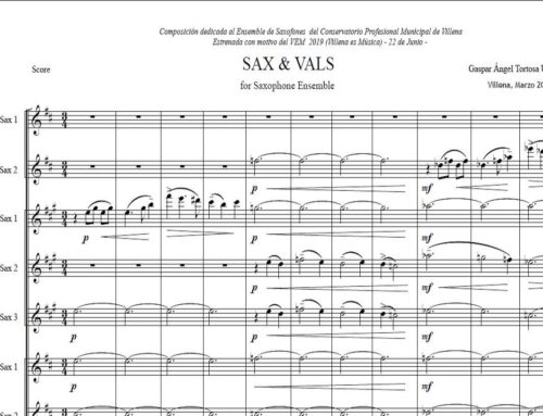 Video.- SAX & VALS / for Saxophone Ensemble