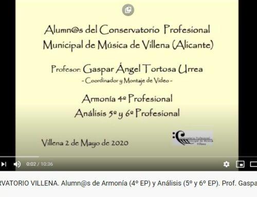 Nuevo Video.- GASPAR ÁNGEL Y SUS ALUMN@S DE ARMONÍA Y ANÁLISIS