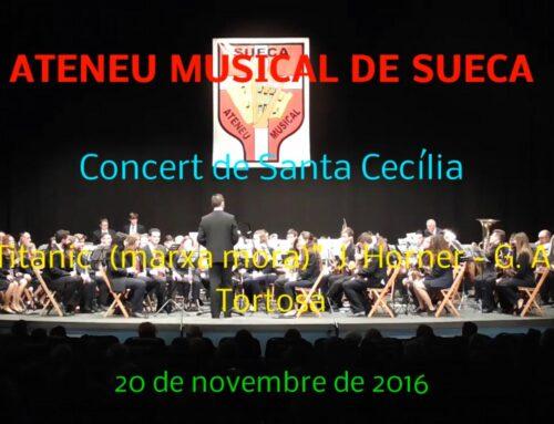 Video.- EL ATENEU MUSICAL DE SUECA (VALENCIA) INTERPRETA LA ADAPTACIÓN DE TITANIC A MARCHA MORA DE GASPAR ÁNGEL TORTOSA.